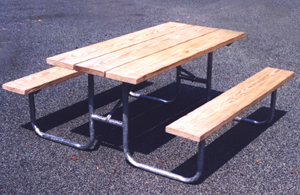 Custom Barricades Barriers Stanchion Carts Bike Racks Picnic Tables - Picnic table bracket kit